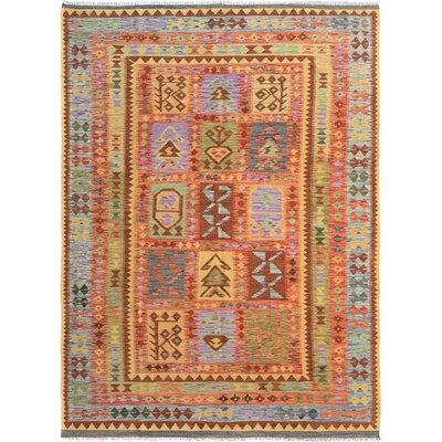 Rosalina Handmade-Kilim Wool Red/Blue Oriental Area Rug