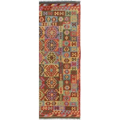 Rosalina Handmade-Kilim Wool Rectangle Red/Blue Geometric Area Rug