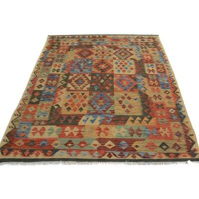 Rosalina Handmade-Kilim Wool Ivory/Blue Area Rug