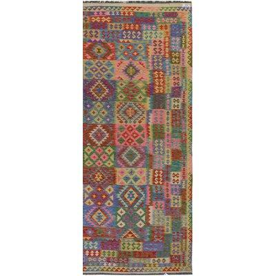 Rosalina Handmade-Kilim Wool Pink/Purple Area Rug