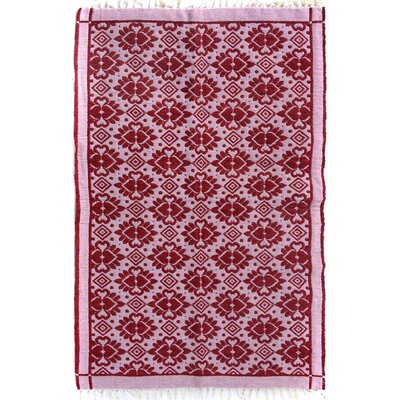 Rosalina Hand Woven Pink/Red Area Rug