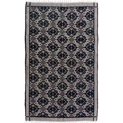 Rosalina Hand Woven Black/Gray Area Rug