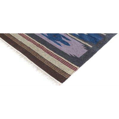 Ashmore Handmade Kilim Wool Brown/Blue Area Rug