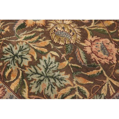 Bellomy Imran Hand-Knotted Wool Brown/Green Area Rug