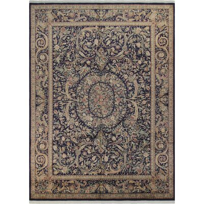 Belle Persian Hand-Knotted Wool Blue/Red Area Rug