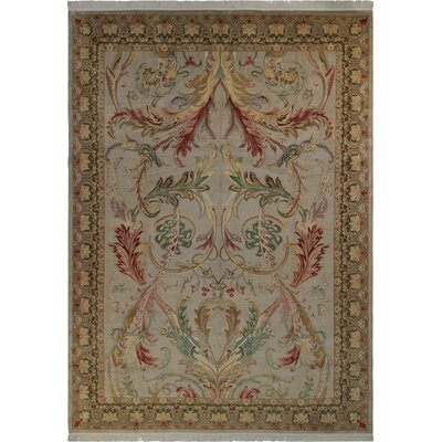 Bellomy Bhati Hand-Knotted Wool Gray/Green Area Rug