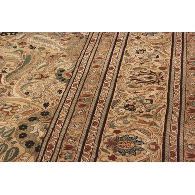 Bellomy Lahore Hand-Knotted Wool Gold/Red Area Rug