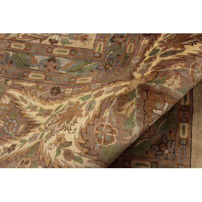 Bellomy Lahore Hand-Knotted Wool Tan/Brown Area Rug