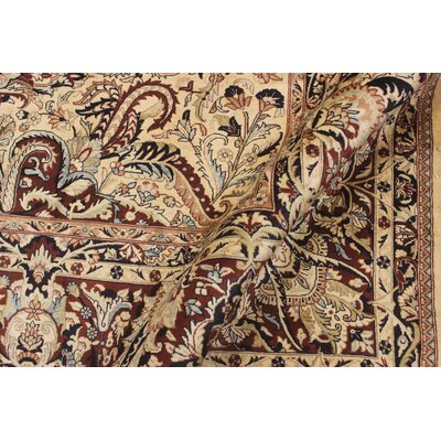 Bellomy Aness Hand-Knotted Wool Ivory/Red Area Rug