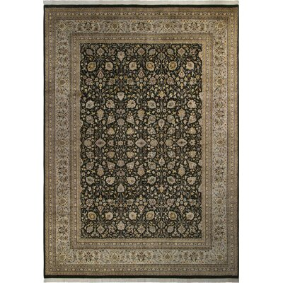 Bellville Persian Hand-Knotted Wool Charcoal/Gray Area Rug