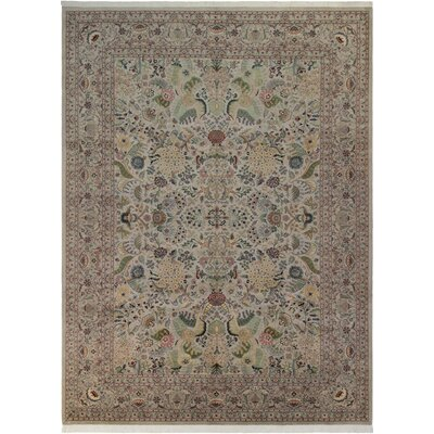 Bellomy Hand-Knotted Wool Gray/Blue Area Rug