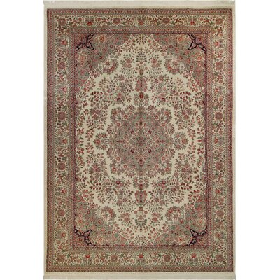 Bellwood Persian Hand-Knotted Wool Ivory/Red Area Rug