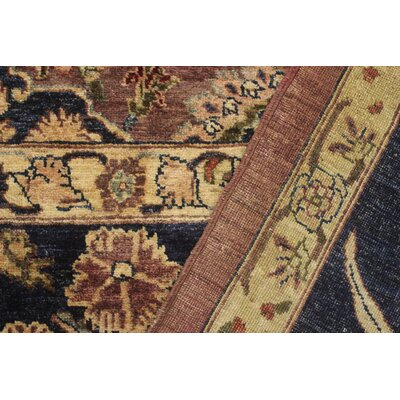 Ernesto Hand-Knotted Wool Purple/Tan Area Rug