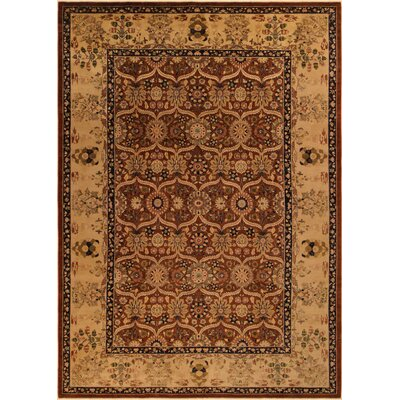 Ernesto Hand-Knotted Wool Brown/Tan Oriental Area Rug