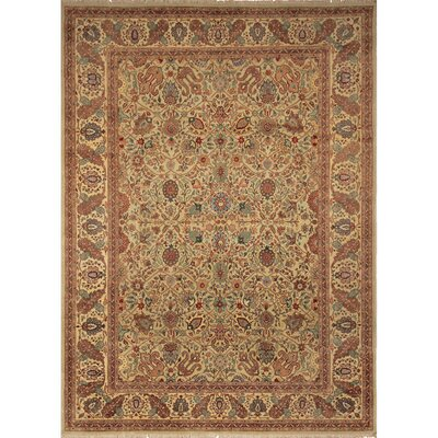 Ernesto Hand-Knotted Wool Silver/Tan Area Rug