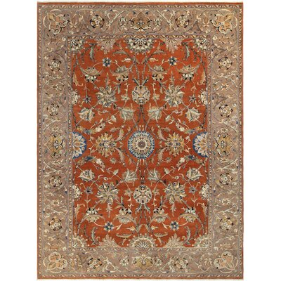 Ernesto Hand-Knotted Wool Rust/Taupe Area Rug