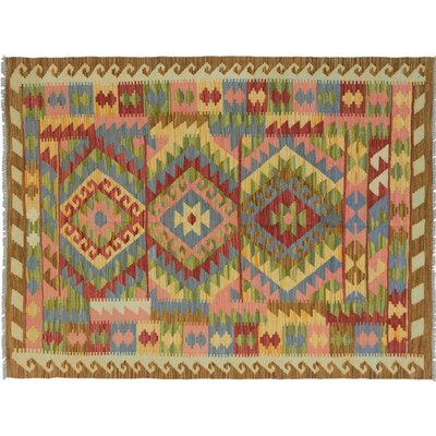 One-of-a-Kind Bakerstown Kilim Hand-Woven Brown/Green Area Rug