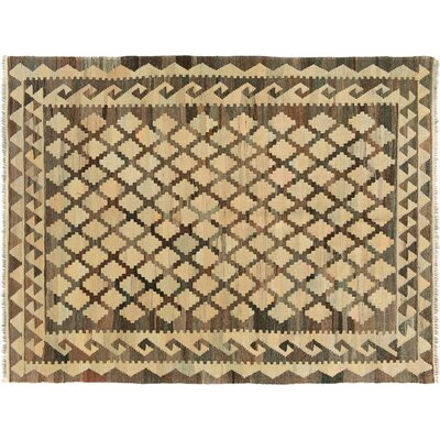One-of-a-Kind Bakerstown Kilim Hand-Woven Brown/Ivory Area Rug