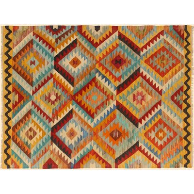 One-of-a-Kind Bakerstown Kilim Hand-Woven Gold/Brown Area Rug