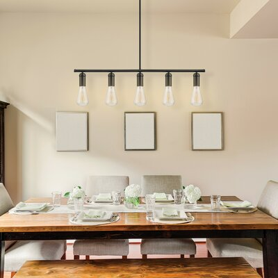 Chromeo 5-Light Kitchen Island Pendant