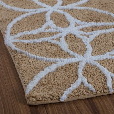 Garrison Le Touquet Tufted Swirls Bath Rug