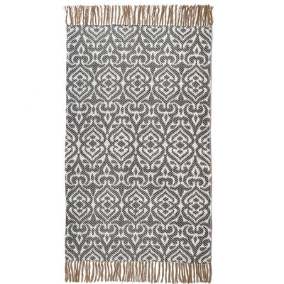 One-of-a-Kind Pharris Antibes Hand-Woven Cotton Gray Area Rug
