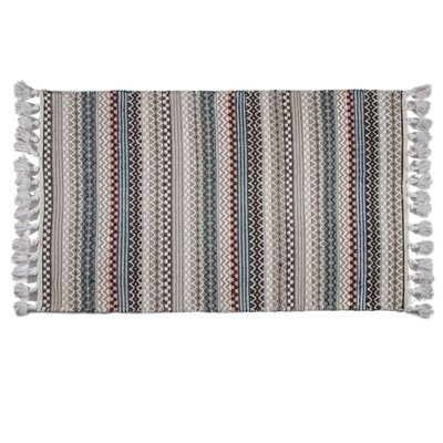 One-of-a-Kind Chantilly Hand-Woven Cotton Gray/Blue Area Rug Rug Size: Rectangle 3 x 5
