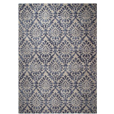 One-of-a-Kind Belfort Blue/Brown Area Rug Rug Size: Rectangle 57 x 76