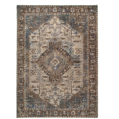One-of-a-Kind Perillo Montpellier Brown Area Rug Rug Size: Rectangle 57 x 76