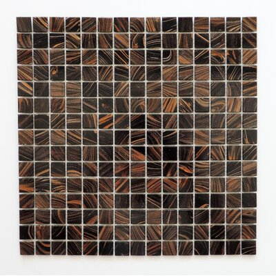 Amsterdam 0.78 x 0.78 Glass Mosaic Tile in Brown Gold Dust
