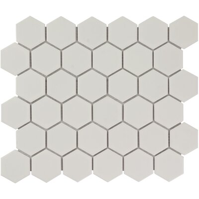 Barcelona Hexagon Matte 2.32 x 2.32 Porcelain Mosaic Tile in White