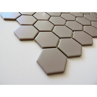 Barcelona Hexagon Matte 2 x 2.32 Porcelain Mosaic Tile in Taupe Beige
