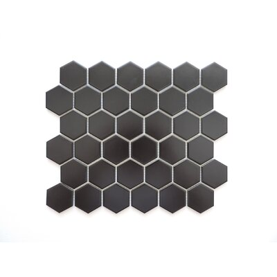 Barcelona Hexagon Matte 2 x 2.32 Porcelain Mosaic Tile in Black