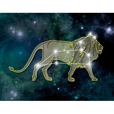 'LED Leo' Graphic Art Print on Canvas
