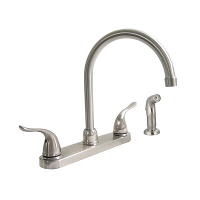 Double Handle Kitchen Faucet Finish: Brushed Nickel
