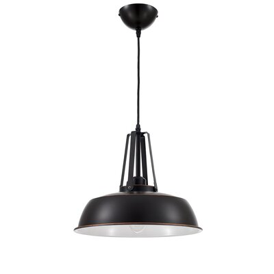 Grange Warehouse Circular 1 Light Inverted Pendant Finish: Black