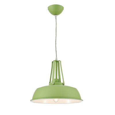 Grange Warehouse Circular 1 Light Inverted Pendant Finish: Green