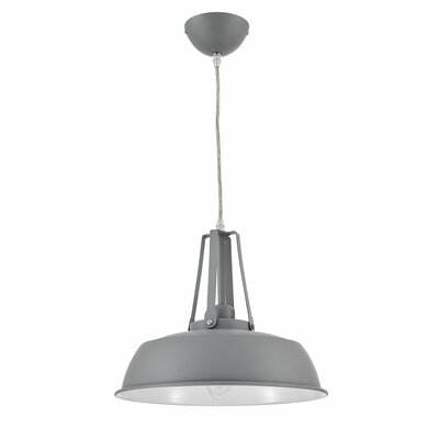 Grange Warehouse Circular 1 Light Inverted Pendant Finish: Silver