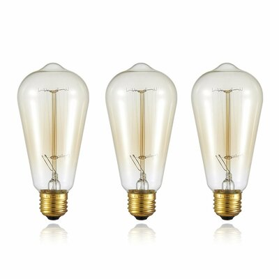 Edison Dimmable Squirrel Cage Classic Vintage Filament Light Bulb
