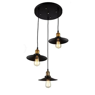 Edison Industrial 3-Light Cluster Pendant