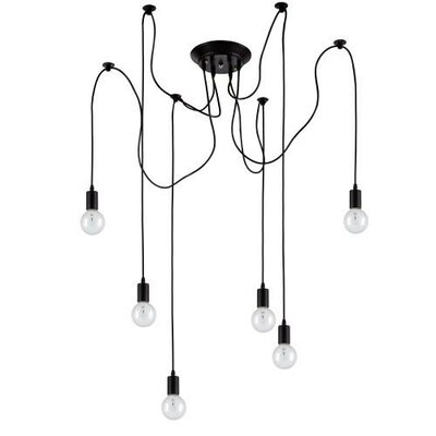 Edison 6 Light Cluster Pendant