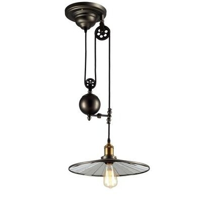 Edison Hanging Vintage Barn 1 Light Mini Pendant