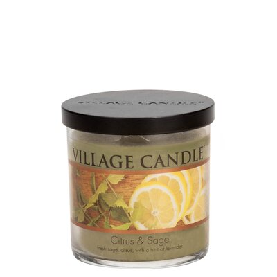 "Decor Scented Jar Candle Size: 3.5"" H x 3.25"" W x 3.25"" D 106010116"