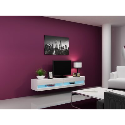 Ramsdell TV Stand Color: White/White