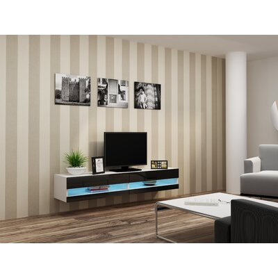Ramsdell TV Stand Color: White/Black