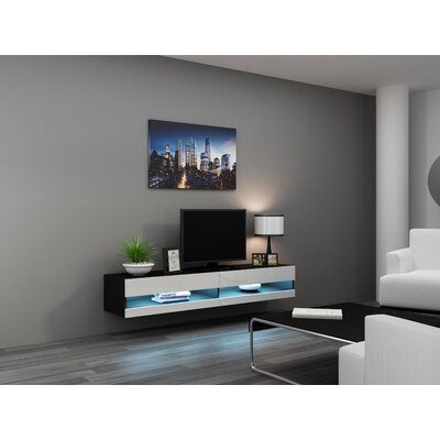 Ramsdell 80 TV Stand Color: Black/White