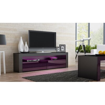 Ranallo TV Stand Color: Black/Violet