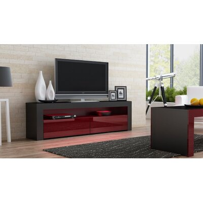 Ranallo TV Stand Color: Black/Burgandy