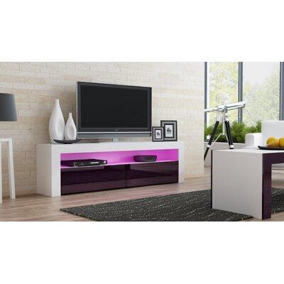 Ranallo TV Stand Color: White/Violet