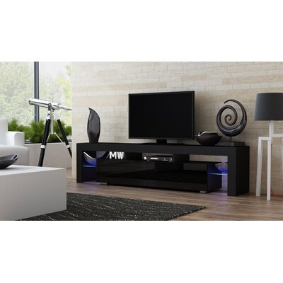 Ranallo 90 TV Stand Color: Black/Black